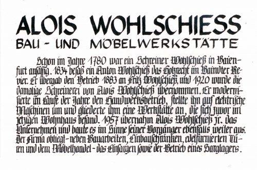Eintrag im goldenen Buche der Gemeinde Baienfurt